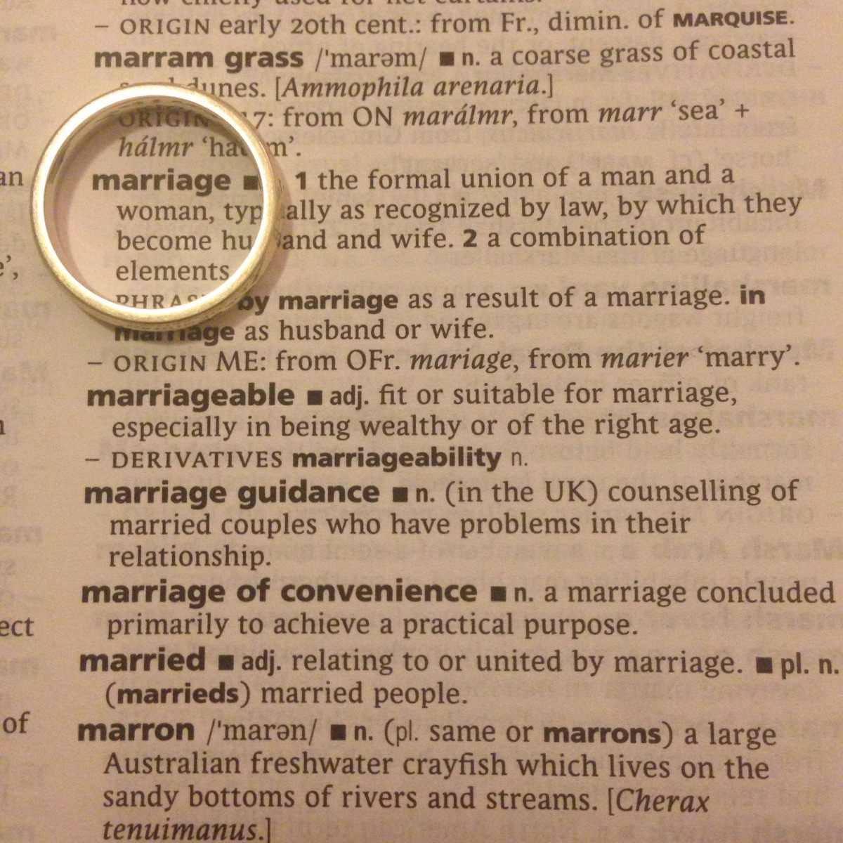 A-Z of Divorce: M...is for Marriage
