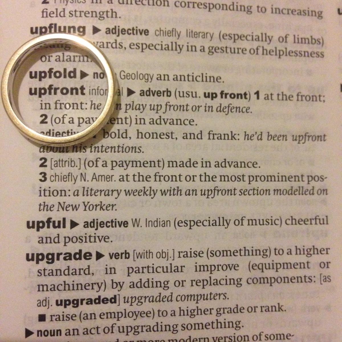 A-Z of Divorce: U...is for Upfront